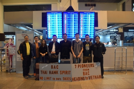 BAC delivered aviation students in the project ThaiHawkSpirit Qualified with Green Planet Airways.